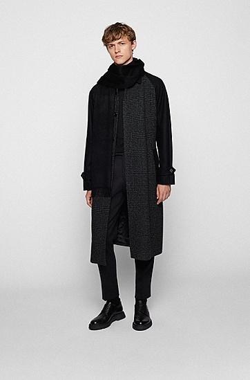 意大利羊绒流苏围巾,  001_黑色