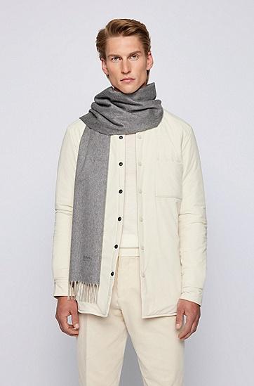 意大利羊绒流苏围巾,  030_Medium Grey