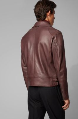 5e0401be5f3 Short-length biker jacket in nappa leather