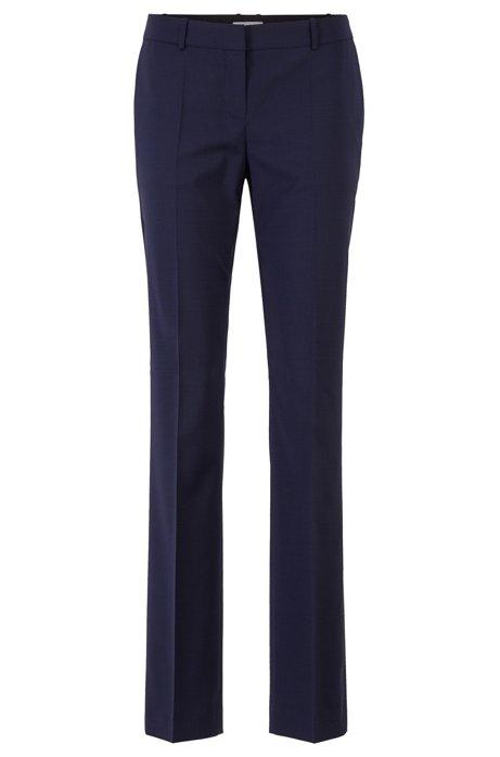 Regular-fit trousers in Italian virgin wool, Patterned