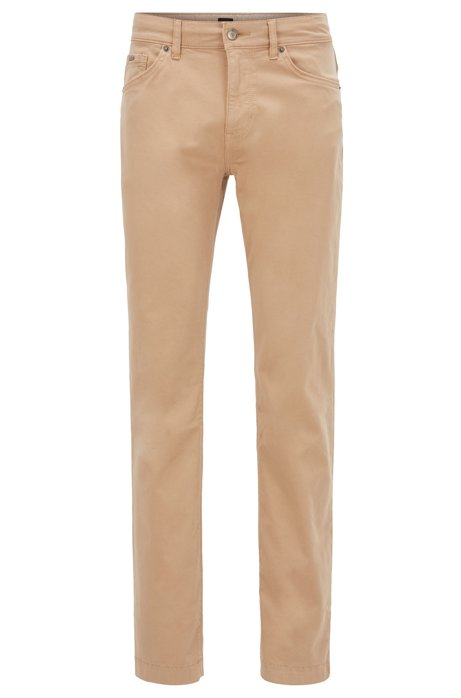 Regular-fit jeans in overdyed stretch denim, Beige