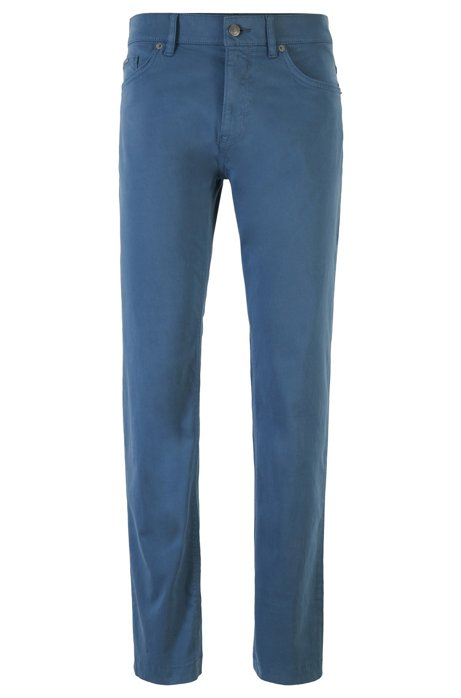 Regular-fit jeans in overdyed stretch denim, Open Blue