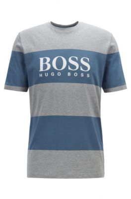 T-Shirt aus reiner Baumwolle mit Logo, Grau