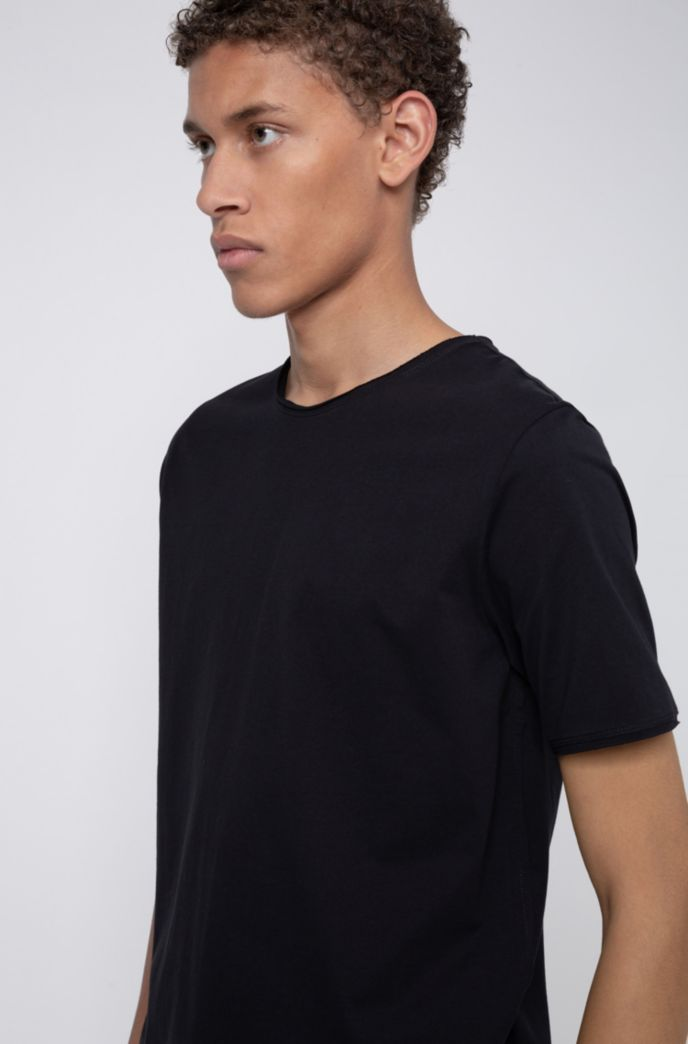 Regular-fit T-shirt met extra lange lengte