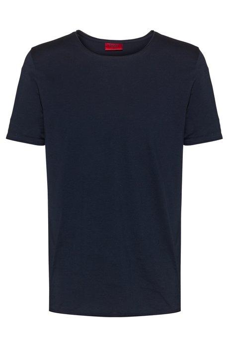 Extra lang geschnittenes Regular-Fit T-Shirt aus Baumwolle, Dunkelblau