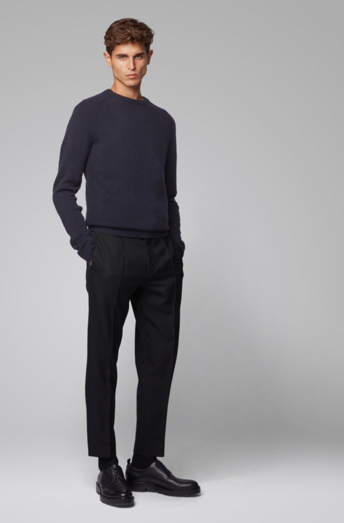 Maglione regular fit in cashmere con scollatura a girocollo
