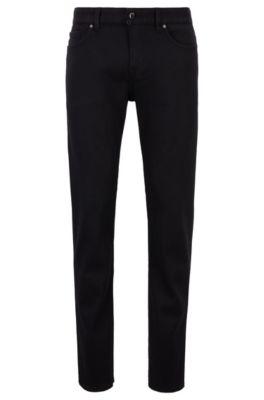 Slim-fit jeans van zwart denim met speciale stretch, Zwart