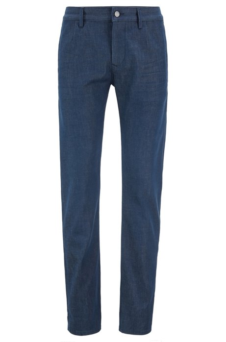 Slim-fit jeans in rinse-washed stretch denim, Blue