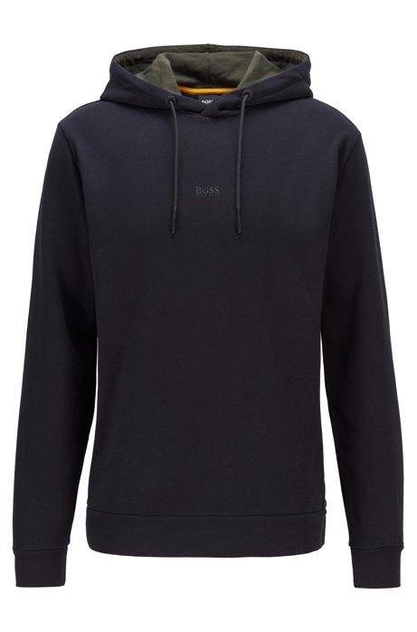 Hooded sweatshirt in Recot2® eco-friendly cotton, Black