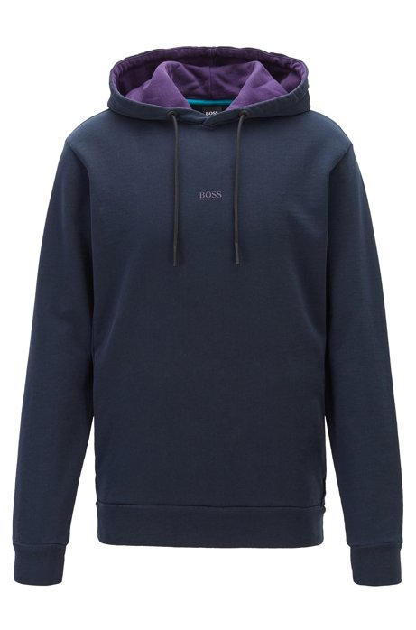 Hooded sweatshirt in Recot2® eco-friendly cotton, Dark Blue