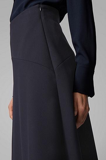 女士正面层叠常规版型高腰半身裙,  466_淡蓝色