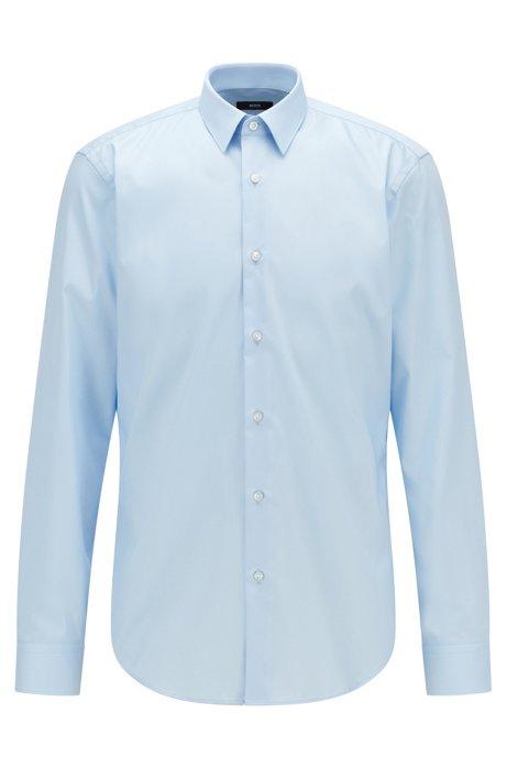Regular-Fit Hemd aus bügelleichter österreichischer Baumwolle, Hellblau