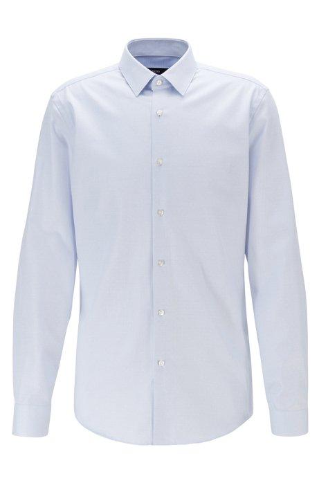 Slim-Fit Hemd aus Baumwolle mit Aloe-Vera-Finish, Hellblau