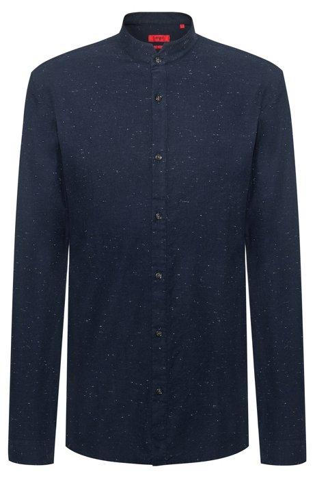 Extra Slim-Fit Hemd aus strukturiertem Baumwoll-Mix, Gemustert