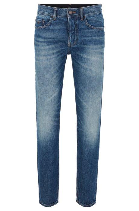 Tapered-Fit Jeans aus italienischem Denim, Blau