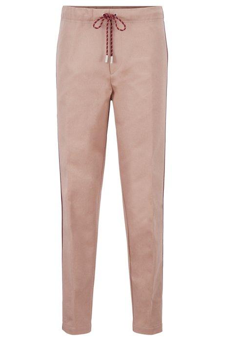 Pantaloni slim fit con banda laterale della capsule Fashion Show, Rosa chiaro