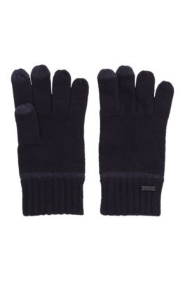 One size handschoenen met touchscreenvriendelijke vingertoppen, Donkerblauw
