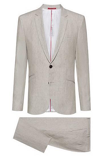 hugo  Costume Extra Slim Fit en pur lin Extra slim fit Nombre de boutons:... par LeGuide.com Publicité