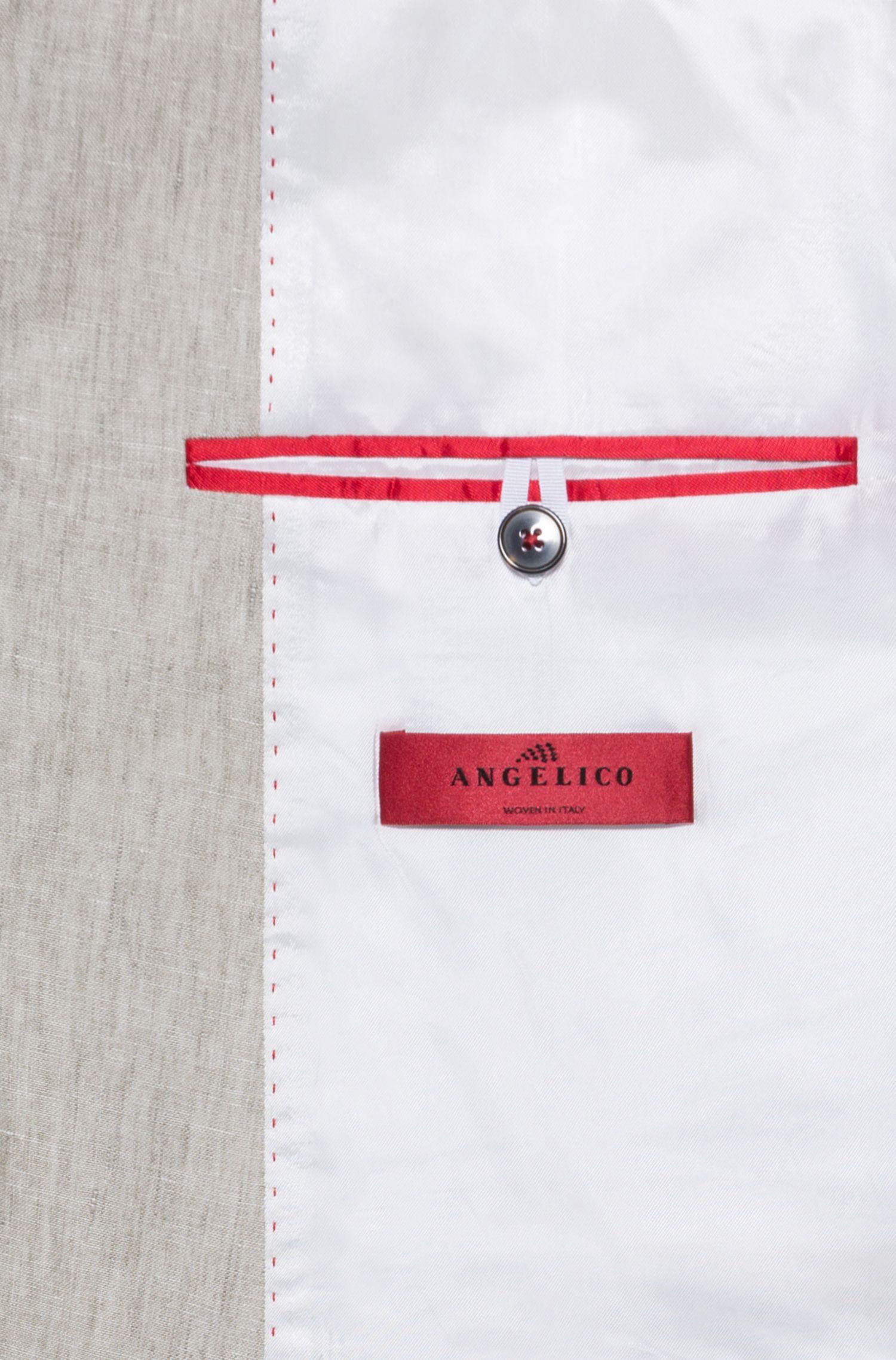 Extra Slim-Fit Anzug aus reinem Leinen, Hellbeige