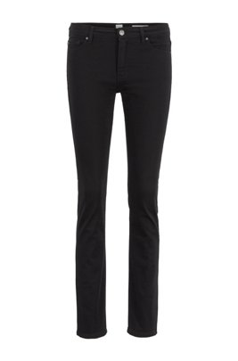 Slim-fit jeans in ultra-black denim, Black