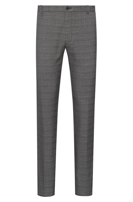 Pantalon Extra Slim Fit en twill stretch à carreaux unis, Fantaisie