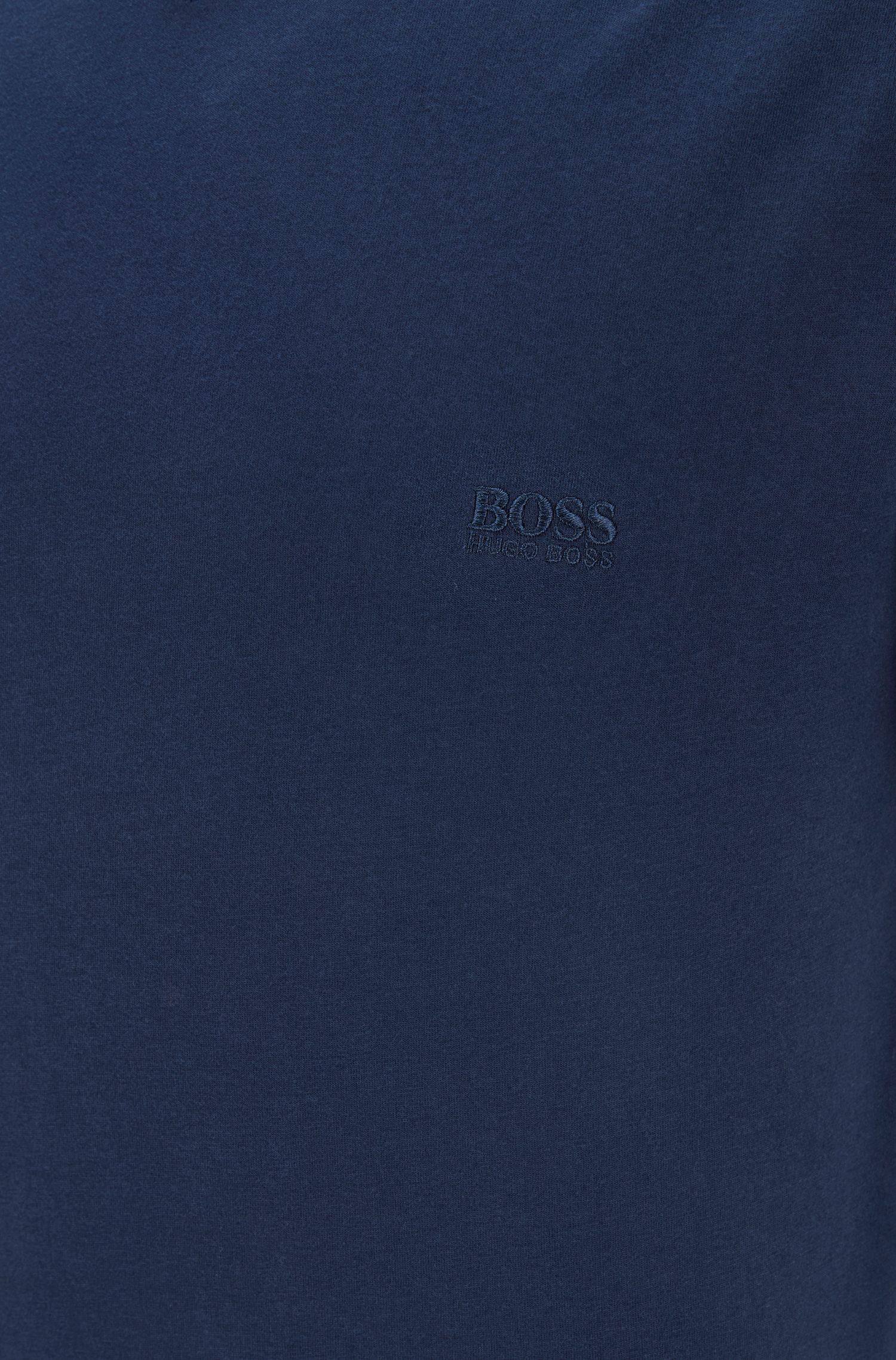 T-shirt à col V et logo brodé, en lot de trois, Bleu vif