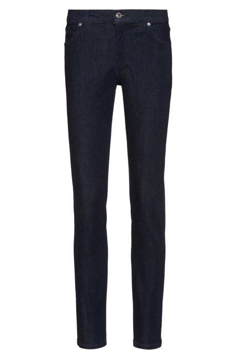 STELLA Slim-Fit Jeans aus bequemem Stretch-Denim mit hohem Bund, Dunkelblau