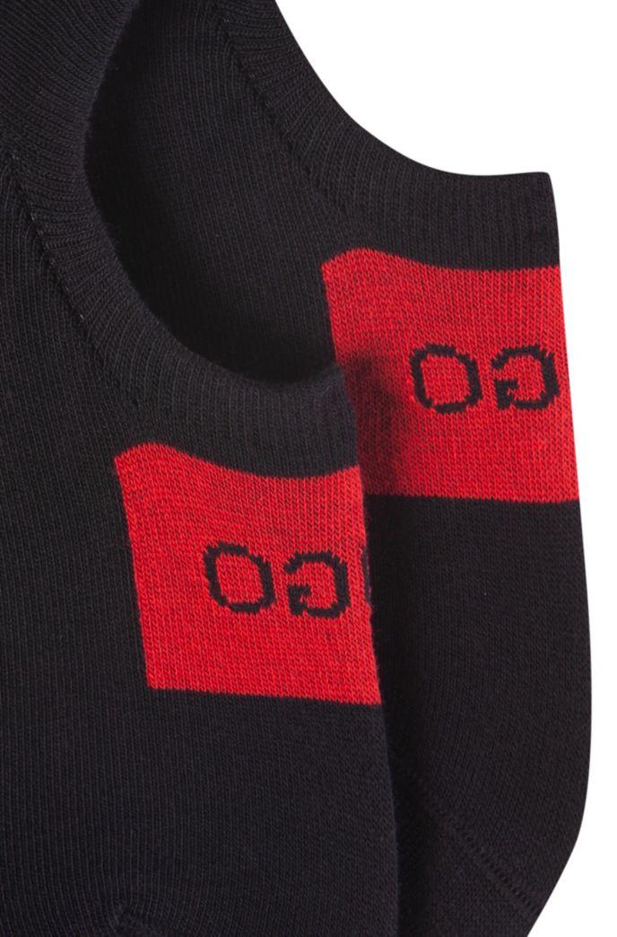 Set van twee paar onzichtbare sokken met logodetail