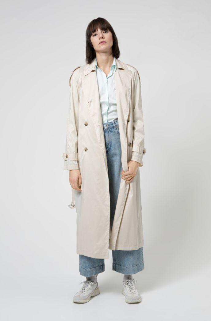 Slim-Fit Bluse aus bügelleichter Popeline