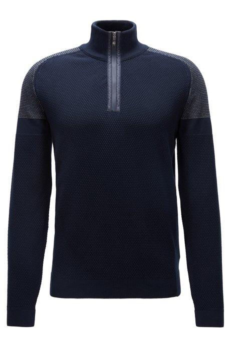 Pullover aus elastischem Biobaumwoll-Mix, Dunkelblau