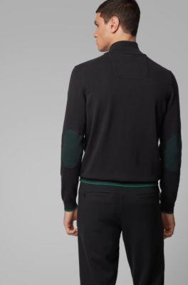 229 € Baldessarini-Pullover Uomo Verde Designer A Maglia Nuovo
