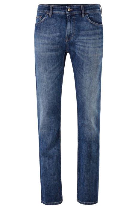 Regular-fit jeans in soft-touch Italian stretch denim, Blue