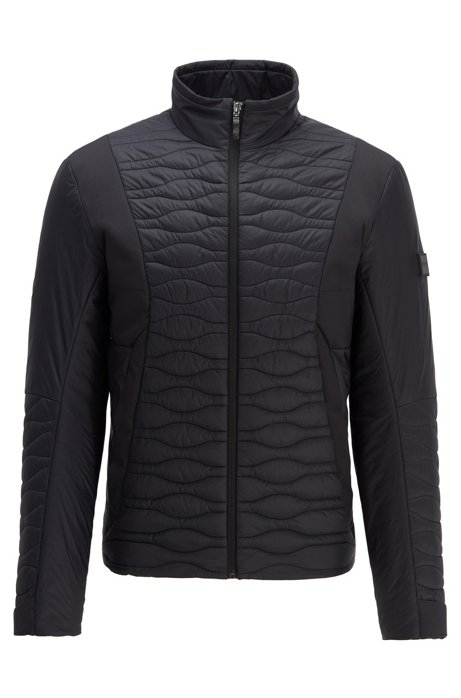 Regular-fit jacket with water-repellent finish, Black