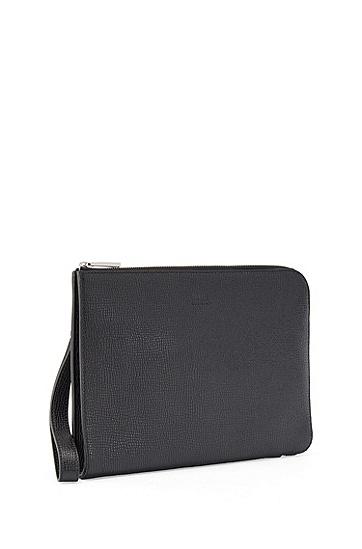牛皮革钱包,  001_黑色