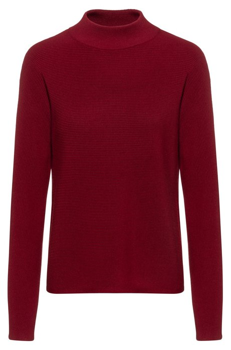 Relaxed-fit sweater in extra-fine merino, Dark Red