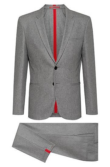 hugo  Costume Extra Slim Fit en laine mélangée feutrée Extra slim fit Revers... par LeGuide.com Publicité