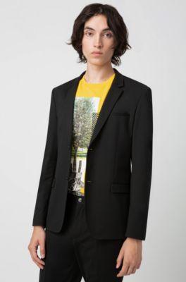 suche nach echtem geeignet für Männer/Frauen Vereinigte Staaten Verstaubarer Extra Slim-Fit Anzug aus knitterfreiem Gewebe