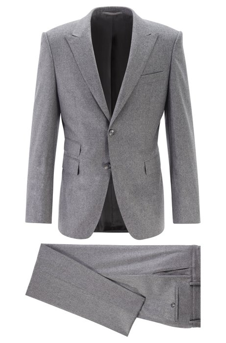 Extra-slim-fit suit with cashmere, Grey