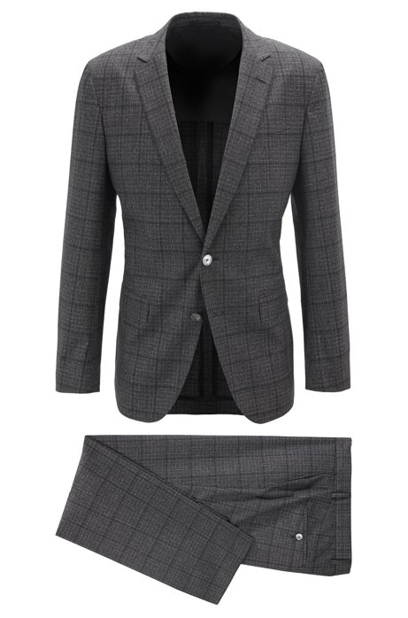 Slim-fit suit in a virgin-wool blend, Grey