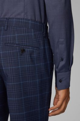 hugo boss check trousers