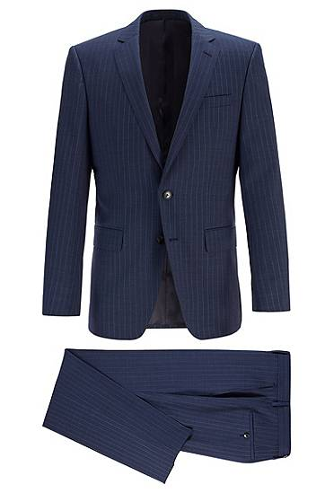boss  Costume Slim Fit en sergé de laine vierge à rayures Slim fit Revers... par LeGuide.com Publicité
