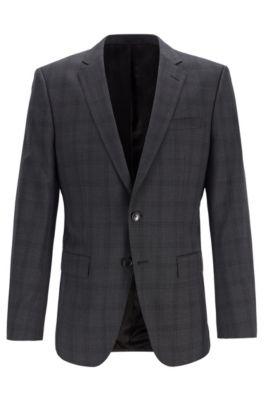 huge sale classic styles new cheap Slim-Fit Sakko aus Schurwolle mit unifarbenem Karo-Muster