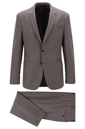 boss  Costume Slim Fit en laine vierge à motif Slim fit Revers cranté Fermeture... par LeGuide.com Publicité