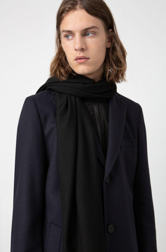 Lichte sjaal met franjes en logoprint