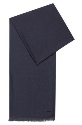 di prim'ordine 54327 7eb4f Leggera sciarpa con frange e logo stampato
