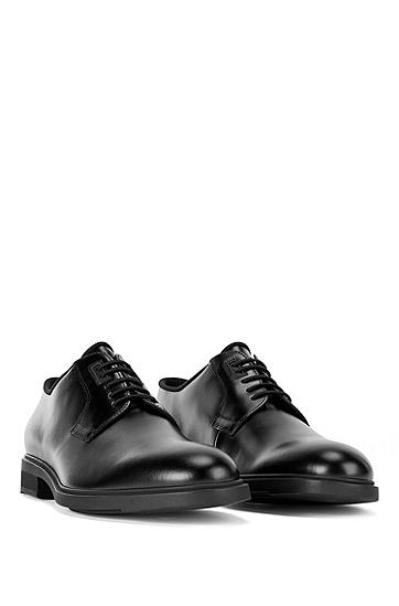 意大利制造 Outlast® 衬里皮革德比鞋,  001_黑色