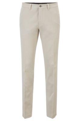 Extra Slim-Fit Hose aus Baumwolle mit Rinse-Waschung, Natur