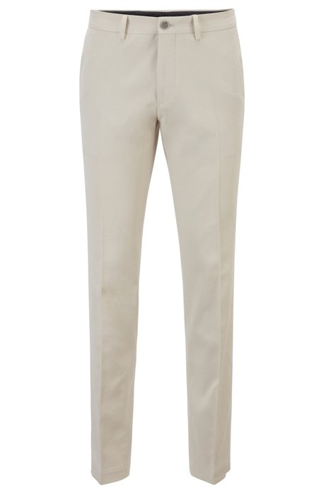 Extra-slim-fit trousers in rinse-washed cotton, Natural