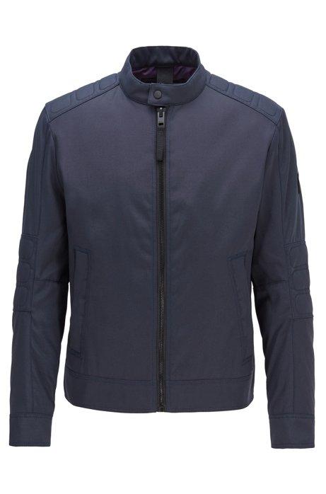 Veste de motard déperlante avec garnissage PrimaLoft®, Bleu foncé