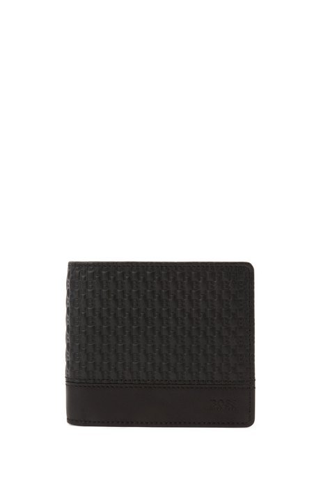 Gift-boxed key ring and wallet in leather, Black